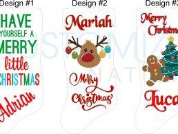 STK06-01 – Sublimation personalized Christmas Stocking