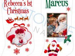 STK06-02 – Personalized Photo Christmas Stocking