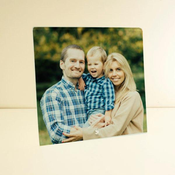Glass Plaque Family Photo