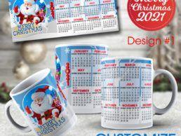 MUG83 – Christmas Calander Mug – Design1