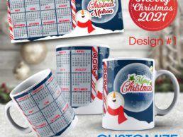 MUG84 – Christmas Calander Mug – Design1