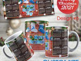 MUG84 – Christmas Calander Mug – Design6