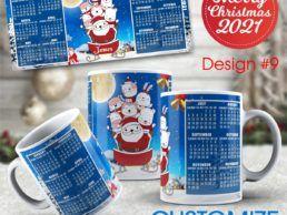 MUG84 – Christmas Calander Mug – Design9