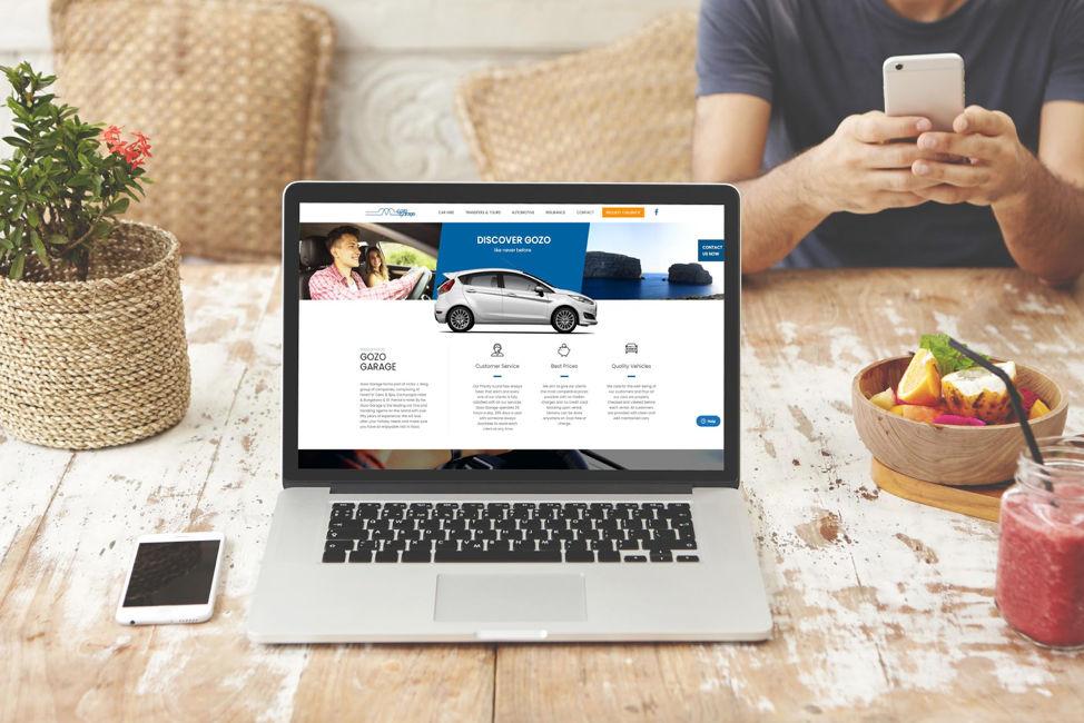 Keen's website design of Gozo Garage