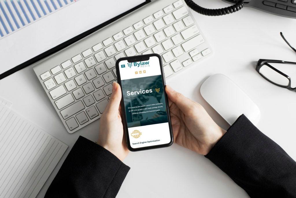 Bylaw Media website on mobile