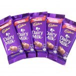 send 5 Dairy milk Chocolate of 13 gm each with flowers
