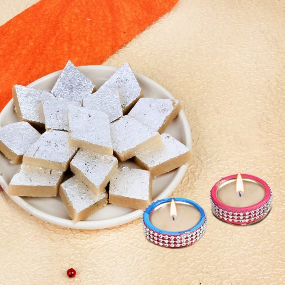 Traditional Diwali Sweets Kaju Katli