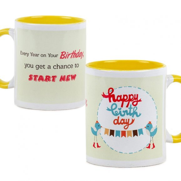 Happy Birthday Mug with Both Sided View - Say Happy Birthday in Style