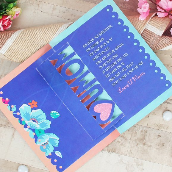 Greeting Card for Mom with Opened View