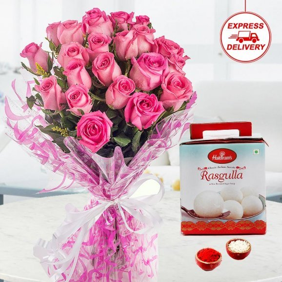 Sweet and Simple Flowers for Brother on bhai dooj