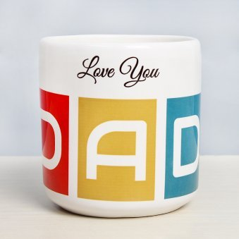 Worlds Best Daddy Mug with Back View