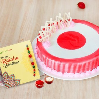 1kg Strawberry Cake and Roli tikka