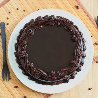Dark Choco Black Forest Cake with Top View