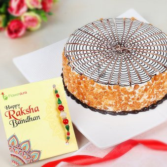 Rakhi Along with Butterscotch Cake