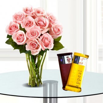 Sweet Adoration-Roses And Chocolates
