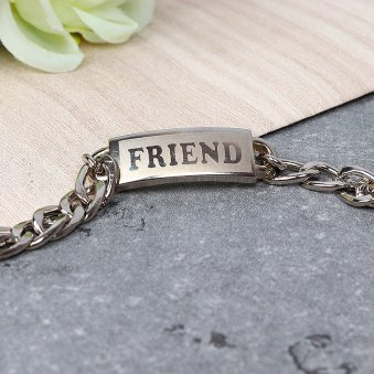 Bond Of Steel - Silver Colored Friendship Band