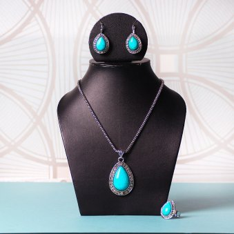 Necklace With Earrings And Ring Jewellery Set