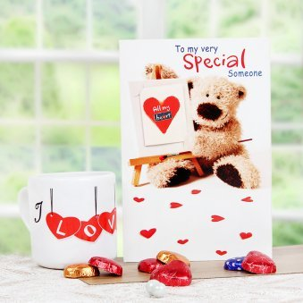 A Special Mug and Card with Chocolates Combo