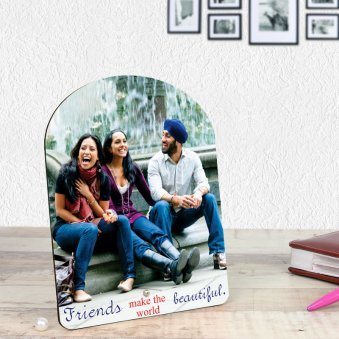 Personalised Photo Frame for Friends with Oblique View