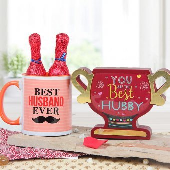 You are the best hubby award with best husband ever quoted mug combo