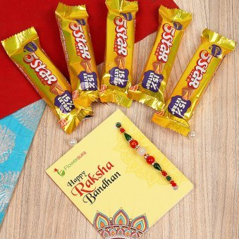 Rakhi with 5 Star Chocolates