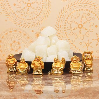 Diwali Gift Combo of Sweets and Laughing Buddha