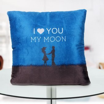 """""""I Love you my moon"""" quoted cushion for love of your life"""