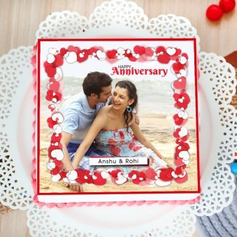 Photo cake for marriage anniversary
