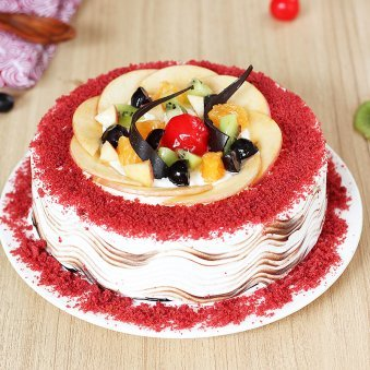 Flavorous Red Velvet Cake with Normal View