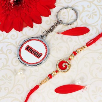 Personalised Keychain with Rakhi