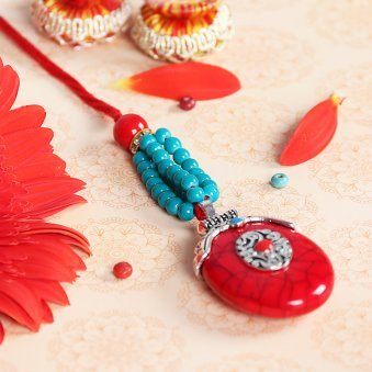 Blue Beads Lumba Rakhi