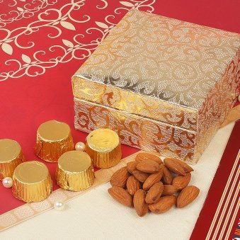 DiwaliChocolate Gift Box with Dry Fruits