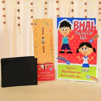 Thoughtful Wishes - Rakhi with Greeting Card