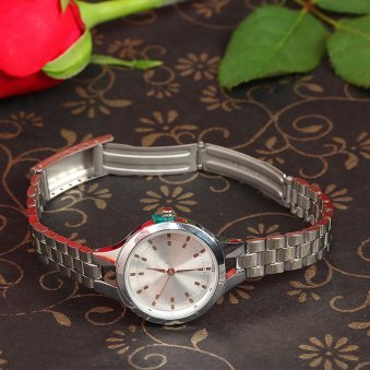 Perfume With Watch Gift Combo Branded White Dial Treasure Her Forever