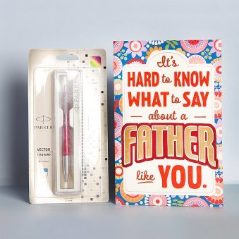 Combo for Dad Consisting of Pen and Greeting Card