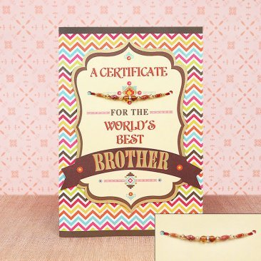 Golden Certificate For Brother - Greeting Card for Bro