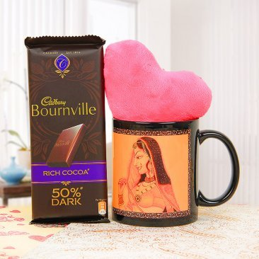 A Beautiful Mug with Cadbury Bournville and a Small Heart