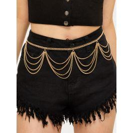 Multi Layered Drape Chain Belt