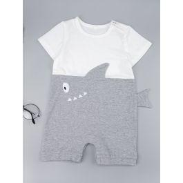 Baby Boy Cut And Sew Embroidery Playsuit