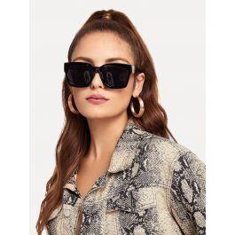 Acetate Frame Flat Lens Sunglasses