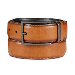 Men's Feather-Edge Belt, Created for Macy's-2243414-tan-42