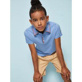 Boys Patched Detail Striped Side Polo Shirt