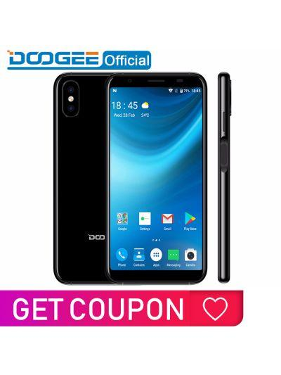 2018 New DOOGEE X55 Smartphone 5.5'' 18:9 HD MTK6580 Quad Core 16GB ROM Dual Camera 8.0MP Android 7.0 2800mAh Side Fingerprint