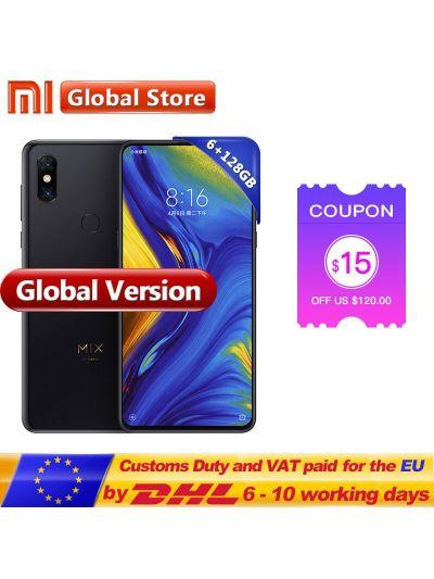 In Stock Global Version Xiaomi Mi Mix 3 6GB 128GB Snapdragon 845 Octa Core Smartphone 24.0MP Front Camera Wireless Charger