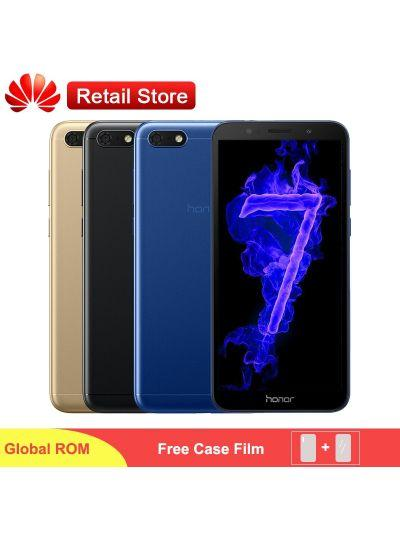 "Global Firmware Honor 7S 7 Play Phone 5.45"" Fullview MT6739 Quad Core Android 8.1 13MP/5MP Dual Camera 3020mAh Face ID Phone"