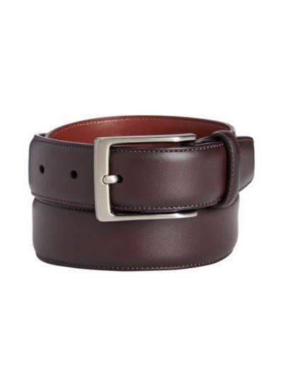 Portfolio Men's Leather Amigo Dress Belt