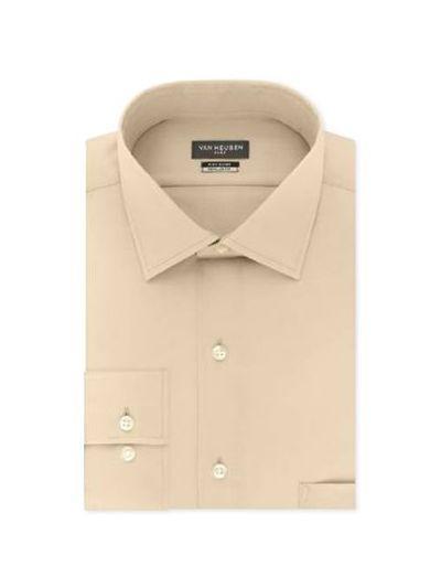 Men's Slim-Fit Flex Collar Stretch Solid Dress Shirt-4803723-jute-30x30
