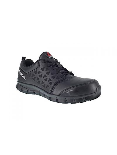 Reebok Mens Sublite Cushion Work Boot Alloy Toe Black 8 D