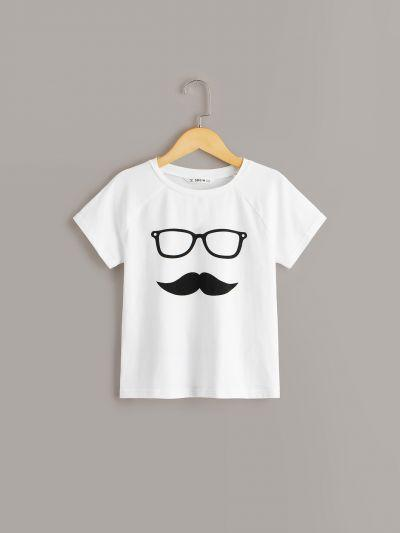 Boys Glasses & Moustache Print Tee