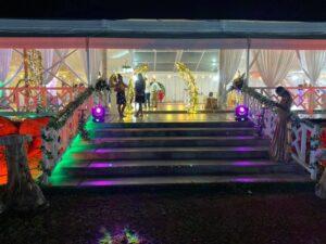 Waters Edge Wedding Hall Mauritius Entrance